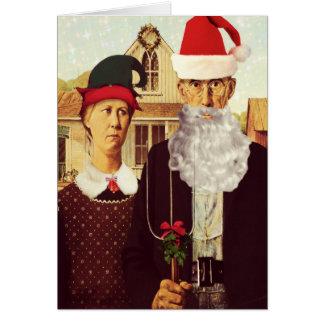 Rolig gullig julkort hälsningskort