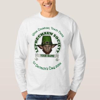 Rolig gullig trollpersonligst patrick's day tee shirt