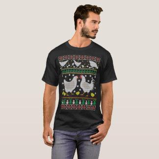 Rolig helgdag för feg ful jultröja tee shirts