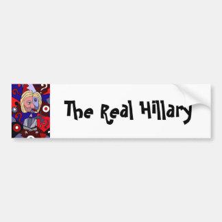 Rolig Hillary Clinton politisk abstrakt konst Bildekal