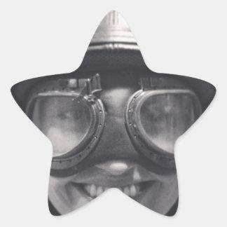rolig hjälm stjärnformat klistermärke
