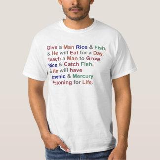 Rolig humor för fisk för Demotivational Proverbris T Shirts