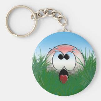 Rolig humor för Golfball för spelare för Golf för Rund Nyckelring