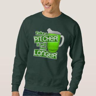 Rolig humor för irländaregröntöl lång ärmad tröja