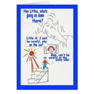 Rolig humorgrattis på födelsedagen för tecknad hälsningskort