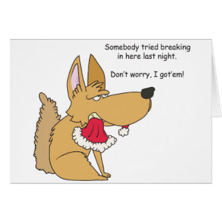 Rolig hund julkort OBS kort