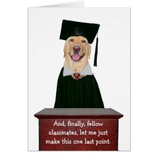 Rolig hund/labbstudenten hälsningskort