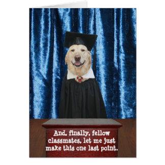 Rolig hund/labbstudenten kort