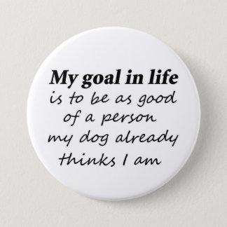 Rolig hund novelty för gåvor för mellanstor knapp rund 7.6 cm
