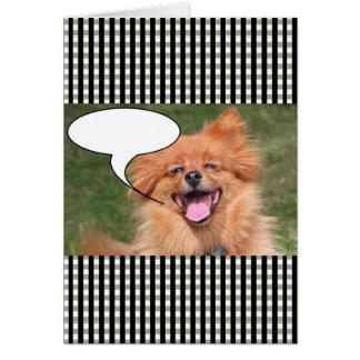 Rolig hund tal bubblar hälsningskort