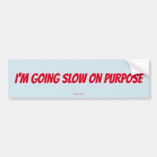 Rolig I-förmiddag som går långsam på Purpose Bildekal
