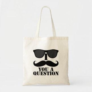 Rolig I-Moustache dig solglasögon för en ifrågasät Tygkasse