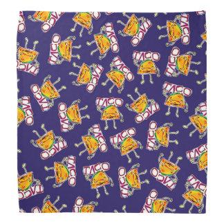 rolig illustration för tacotecknadstil scarf