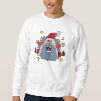 Rolig ilsken jultomten lång ärmad tröja