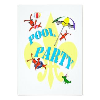 Rolig inbjudan för party för Cajun kräftorbassäng