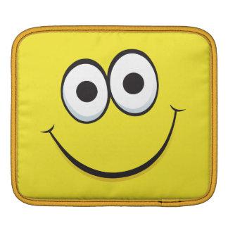 Rolig ipad sleeve för gul lycklig tecknadsmiley fa