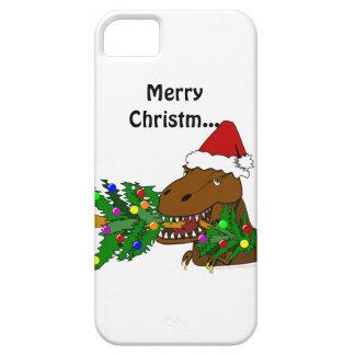 Rolig iphone 5 för den Trex Dinosaurjulgranen iPhone 5 Case-Mate Fodraler