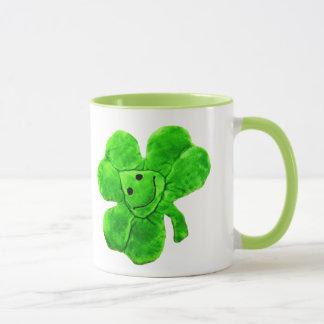 Rolig irländsk Shamrockmugg för saint patrick's Mugg