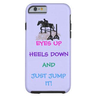 Rolig jägare-/jumperryttare tough iPhone 6 fodral