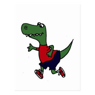 Rolig jogga Trex Dinosaur Vykort