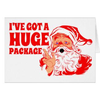 Rolig jul, enormt paket hälsningskort