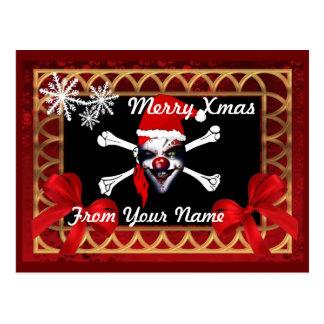 Rolig jul för piratskallepersonlig vykort