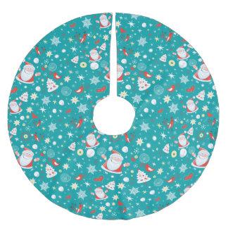Rolig jul julgransmatta borstad polyester