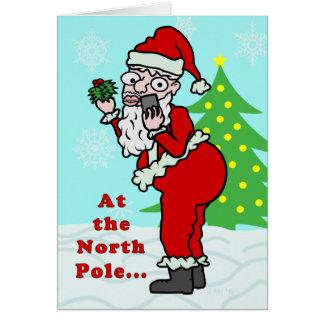 Rolig jul Santa Elfie Hälsningskort