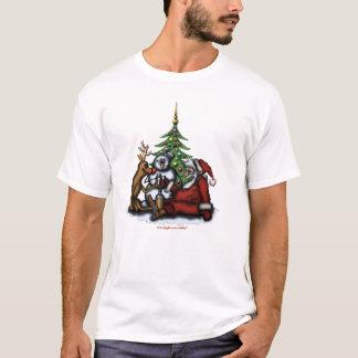 Rolig jul som dricker t-skjortan för tee