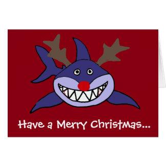 Rolig julhajren hälsningskort