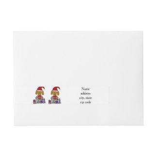 Rolig julhund inslagadressetikett