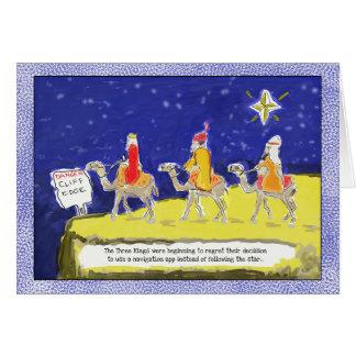 Rolig julkort: De tre kungarna Hälsningskort