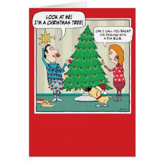 Rolig julkort: Dunkel kula Hälsningskort
