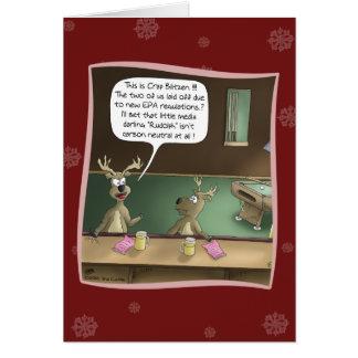 Rolig julkort: Friställningen Hälsningskort