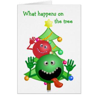 Rolig julkort hälsningskort