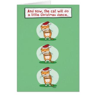 Rolig julkort: Kattdans Hälsningskort