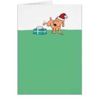 Rolig julkort: Peeing hund Hälsningskort