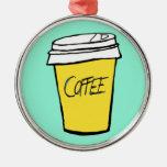 rolig julprydnad för kaffe