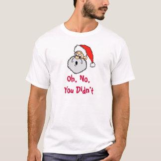 Rolig jultomten är du stygg jul t shirt