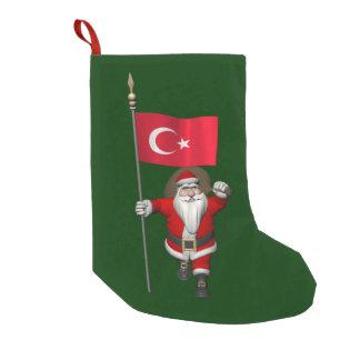 Rolig jultomten med flagga av Turkiet Liten Julstrumpa