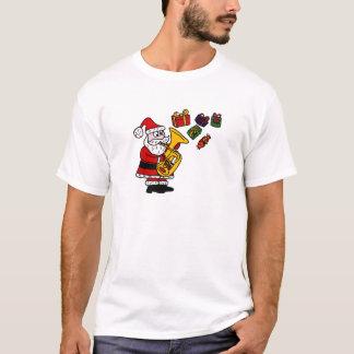 Rolig jultomten som leker Tubajulkonst T Shirt