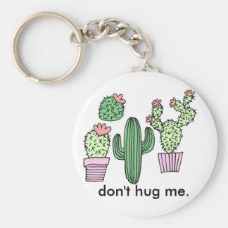 Rolig kaktusillustration Keychain Rund Nyckelring