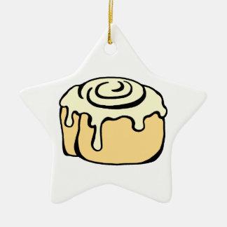 Rolig kanelbrun design för tecknad för julgransprydnad keramik
