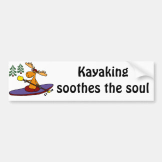 Rolig Kayaking älg Bildekal