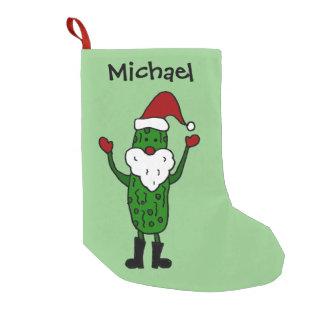 Rolig knipa i Santa hattjulstrumpa Liten Julstrumpa