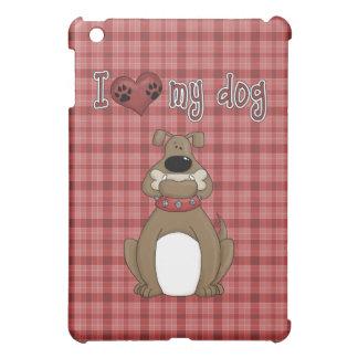 Rolig komisk kärlek min hund iPad mini mobil fodral