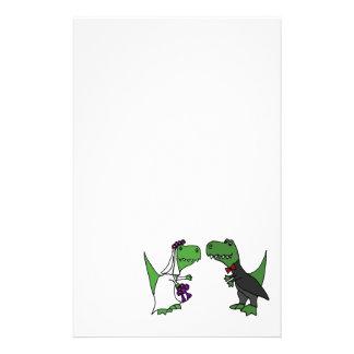 Rolig konst för T-rex Dinosaurbrud och Brevpapper