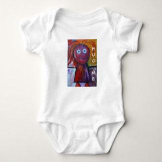 Rolig kramme-Barns teckning-flicka stick figur Tee Shirts