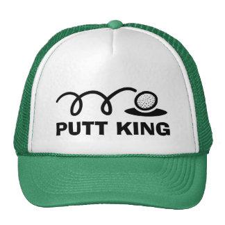 Rolig kung för Putt för golfhattar | Keps