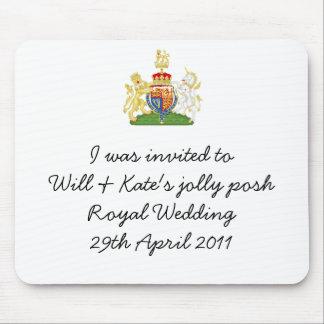 Rolig kunglig mousemat för bröllopförklädesouvenir musmattor